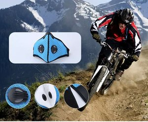 Fast Delivery!PM2.5 Activated Carbon Mask Reusable Sport Face Mask with Double Breathing Valve Muti Layers Dustproof face mask designer