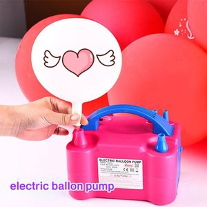 Portable Electric Balloon Inflator Pump EU US Plug Two Nozzle High Power Air Blower Shorten The Working Time Of The Gas Pump CY200522