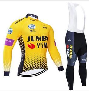 Nuevo Invierno 2020 Harina JUMBO equipo de ciclismo chaquetas 9D pantalones de bicicleta Ropa Ciclismo MENS de polar pro BICICLETA calidad jersey Maillot
