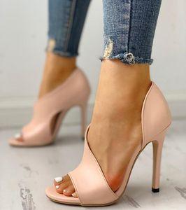 Yeni Kadın ayakkabı kadın Moda Seksi Yaz Bayanlar Stiletto Peep Toe Sandalet Düğün Ayakkabı Artan Yüksek Topuklar Pompalar Y200113