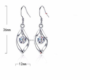 Hot-selling designer luxury simple S925 silver jewelry temperament tasseled eardrop earhook fashion hip-hop lady transfer ear jewelry