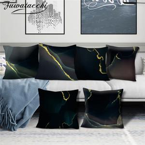Fuwatacchi Прохладный наволочки Геометрическая наволочки Хлопок для спальни Диван и кресло Декоративные наволочки 45 * 45 Cm