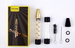 7pipe twisty vidro contundente tubulação de fumo seco ervas herbano Vape de vidro bluntvaporizer caneta kit kits kits tabaco filtro de cigarro de fumaça