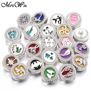 New Aromatherapy 18mm Snap Buttons Perfume Locket Magnetic Stainless Steel Essential Oil Diffuser Snap Button Bracelet Jewelry