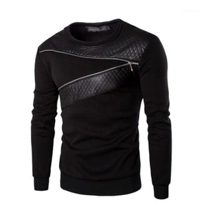 Mens Designer T Chemises Printemps Automne Chandail Hoodies Marque Hoodies Mode Hommes Tops Zipper Couture Tôlé À Manches Longues haute Quality1