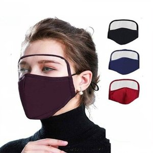 new 2 in 1 Face Shield Mask Plastic Screen Full Face Protection Designer Mask Anti Dust Fog Protective Mask Shield T2I51054