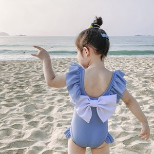 2020 New Style Fashion Kid Kid Cartoon maillot de bain Maillot de bain dos nu Big Bow Bikini Girls Maillots de bain Livraison gratuite