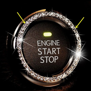 세 가지 색상 AUTO 장식용 액세서리 자동차 버튼 START 다이아몬드 스위치