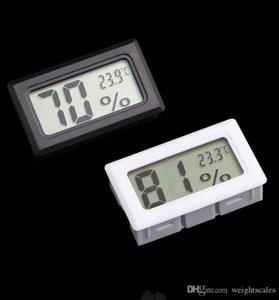 미니 디지털 LCD 내장 온도계 습도계 온도 습도 측정기 실내 온도계 블랙 화이트