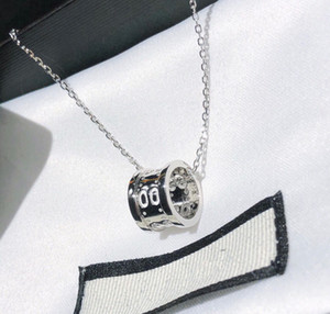 HOT SELL Fashion love pendant initial letter necklace for lady mens and women Party wedding lovers gift stainless steel jewelry With BOX