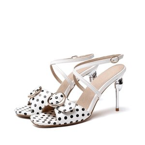 Size 30-48 Summer European American Sexy Fashion High Heels 9cm Women Peep Toe Rome Ladies Sandals Party Wedding Shoes 9883
