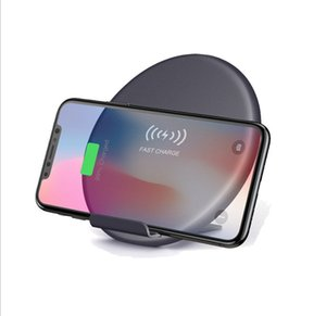 QI standard 10W Foldable desk wireless charger fast charger with phone holder for iphone 8 x samsung s8 s9 note