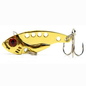 VIB Metal Fishing Lure Vivid Vibrations Lure Fishing Bait Artificial Hard Bait Fishing Tackle Lure 3D Eyes 1.4in 0.1oz