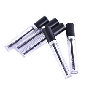Frasco vacío transparente plástico del tubo 8ml del rimel / botella / envase para el rimel medio del crecimiento de la pestaña con el casquillo negro
