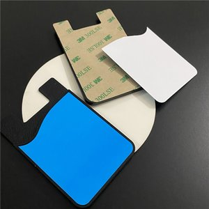Blank Sublimation Silicone Card Bag Card Package Mobile Phone Wallets Credit ID Card Holder Pocket for iPhone 12 Samsung S20 Note 20 Plus