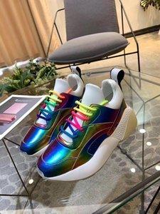 Perfect Quality Stella Eclypse кружева кроссовки Лондон дизайнер Дизайнерская Mccartney Шнуровка Коренастый Подошва Женская обувь D09