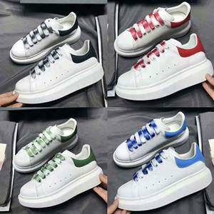2019 Tasarımcı Ayakkabı Moda Lüks Kadınlar Ayakkabı Erkek Büyük Boy Sneakers Dana derisi Platformu Sole Günlük Ayakkabılar 3M Yansıtıcı Ek Shoelace