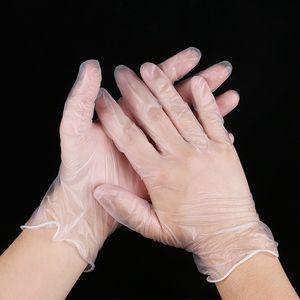 Forniture all'ingrosso caldo di Sicurezza sul lavoro guanti monouso in PVC guanti trasparenti alimentari cosmetici guanti di protezione di elaborazione del lavoro a prova di olio