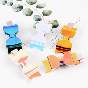 2.5 Inch Mini Hair Bows Hairgrip Shiny Bow Hair Clips PVC Fabric Boutique Hairpins Handmade pins Accessories DIY