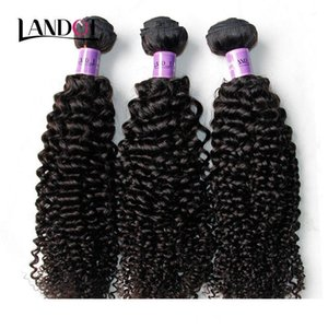 Peruviano Capelli ricci Lordo peruviano riccio crespo dei capelli umani Weave 3Bundles Lot 8A Grade peruviano Jerry Curl Capelli estensione Natural Color