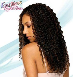 Freetress волосы с водой сплести сенегальский поворот синтетические вязания косички кудрявые в предварительно твист 18inch Свободный прядью волос набухает 2020