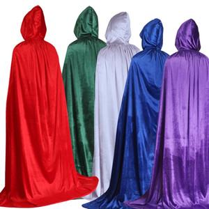 Holy day gold velvet multicolor female witch wizard cloak children adult gold velvet cloak