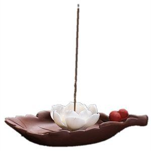 Línea de línea Quemador de incienso La flor de loto Lirio de agua Incienso Quemador de palillos Hogar creativo Incienso titular Incensario