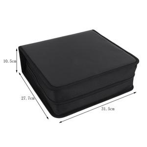 Çanta Dropshipping Taşıma PU Deri 400 adet Disk CD DVD Depolama Tutucu taşıma çantası Çanta Organizatör Çözüm Bağlayıcı Kitap Kollu