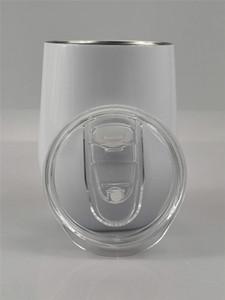 Сублимация Яйцо Кубок Вино массажер Vacuum Cup 12oz яйцевидной формы с двойными стенками из нержавеющей стали Кружка кофе Термонаносимая Настройка с крышкой A05