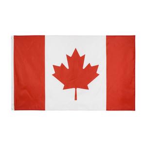 1 piezas Canadá bandera 90*150 cm/3*5 FT gran colgante Italia país nacional bandera canadiense bandera utilizada para Festival decoración del hogar