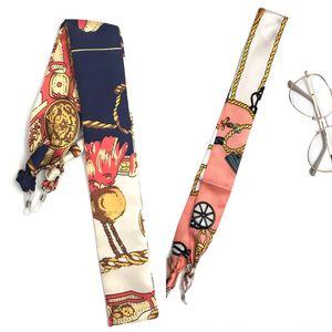Fashion Silk scarf ribbon rope presbyopia anti-skid chain hanging neck anti Glasses Silk scarf glasses chain