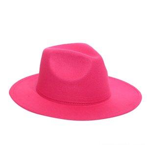 Hommes Femmes Hat Fedora Chapeaux Chapeaux Casquettes, écharpes Gants hiver imitation Woollen femmes Chapeaux en feutre hommes Mode Noir Top Hat Jazz Fedoras Chape
