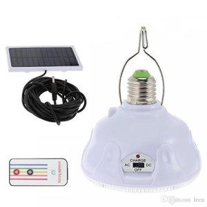 جهاز التحكم عن بعد مصباح الأمن مراقبة 24 LED الخفيفة للطاقة الشمسية المحمولة E27 خيمة التخييم الخفيفة للطاقة الشمسية في حالات الطوارئ لحديقة الديكور