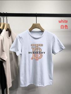 T-shirt Salles de sport Fitness Workout BURBERRY T-shirt Homme d'été gilet Casual Slim Tee Tops Vêtements pour hommes courts