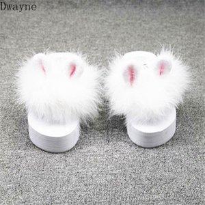 2020 النسخة الكورية الإناث جديد من الاسفنج آذان الفراء السوبر خرافية أسافين الوجه يتخبط