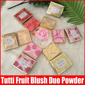 Nuevo Maquillaje Cara Tutti Frutti Fruta Cóctel Blush Duo Destacando Bronceador Sombra Polvo Combinado!6 Colores