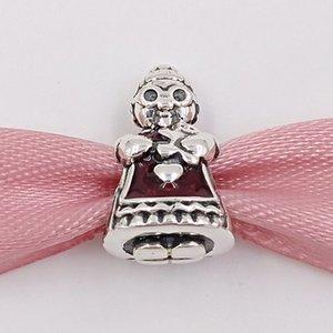 Authentique Argent 925 Perles Mme Charms Charm Noël Fits bijoux européens Style Pandora Bracelets Collier 792005EN07