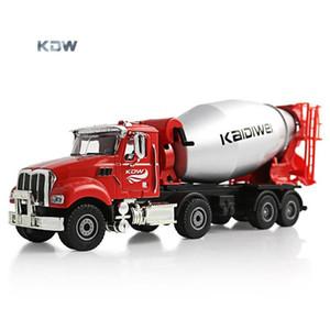 KDW Diecast alliage Cement Mixer Modèle Jouet, Camion Béton, 01h50 Ingénierie Véhicule, Ornement pour Noël Kid Birthday Boy cadeaux, collecte, 2-2