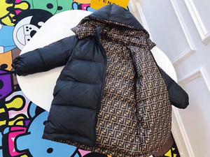 Espessura quente casaco longo meninos Inverno Meninas Waterproof Jacket Down For Brasão Meninas Crianças Meninos Casacos Crianças Parka 3 cores