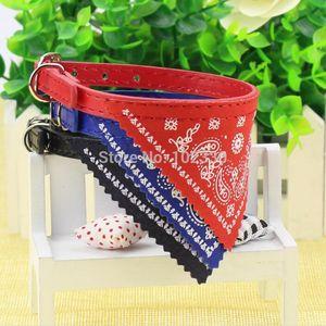 100pcs lot S M L XL Size Cute Dog Cat Pet Adjustable Scarf Pet Collar Neckerchief Puppy Dogs Clothes Accessories