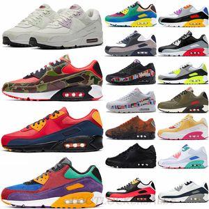 2020 Clássico Nike Air Max Vapor 90 Mars Landing Londres Viotech ser verdade Branco Almofada Running Shoes anos 90 infravermelho treinadores desportivos Sneakers