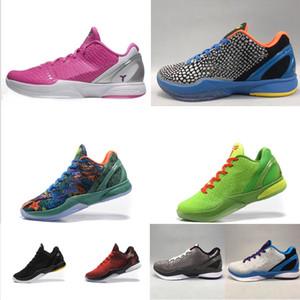 Erkek KB6 Bryants 6 vi basketbol ayakkabıları kutusu ile Pembe Teyzem Gri Mavi Grinch Yeşil BHM Paskalya yeni ZK 6s protro spor ayakkabısı tenis düşünün ZK6