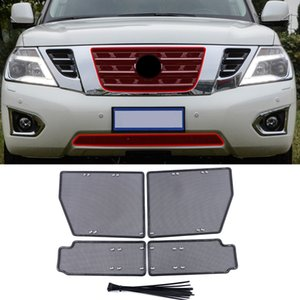 Car Accessories Steel Front Grille Insert Net Anti-insect Dust Rat Garbage Proof Inner Cover Net For Nissan Patrol Y62 2010-2019
