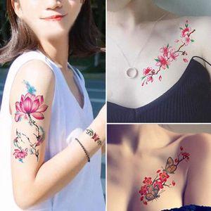 Fille Fleur photo étanche tatouage d'art couverture Autocollant Scar mariage Photographie tatouage Stickers Plus de modèles Maquillage Body Art Totem
