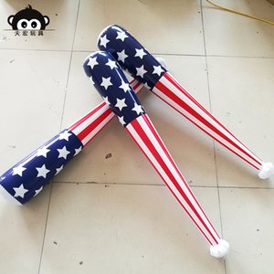 Inflatable Toys Custom PVC Inflatable Baseball Bat American Flag Stick Spot Factory Wholesale Inflatable Toy Rod Hammer