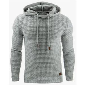Осень новый европейский и американский мужская Жаккардовая толстовка с длинным рукавом мода толстовка теплый цвет куртка S-5XL