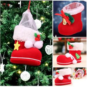 미니 캔디 부츠 선물 신발 메리 크리스마스 트리 장식 크리스마스 스타킹 홈 인테리어 새해 HH9-2550
