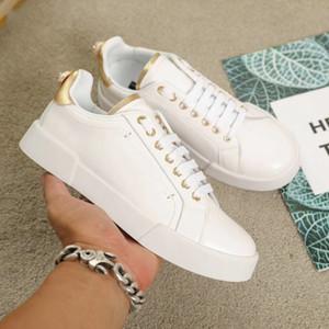 Mode Männer Frauen Luxus Designer Schuhe Echtes Leder Portofino Turnschuhe Gummisohle Italien Casual Marke Schuhe Designer Größe mit Box 35-46