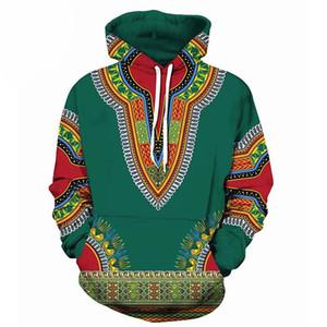 Africano Dashiki Imprimir Moletom Com Capuz Camisola Das Mulheres Dos Homens Cosmos Primavera Outono 3D Hoodies Homens Hip Hop Rua Moletom Com Capuz