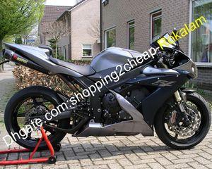 Pour Yamaha Moto YZF1000 YZFR1 YZF R1 2004 2005 2006 04 05 06 Carrosserie Carénage après-vente Kit Noir Argent (moulage par injection)